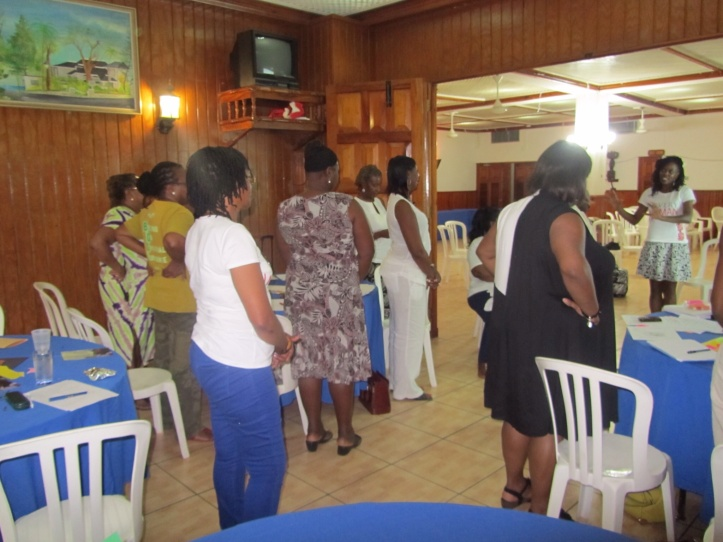Photo: Karlene Jackson. Workshop attendees at Every Woman Inspired, Jamaica.