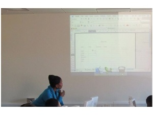 Delivering and ICT session at The Youth IT Space, Downham. Photo: D Lloyd.
