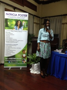 Delivering a personal development workshop at Every Woman Inspired, Jamaica. 2013. Photo: D Henry.
