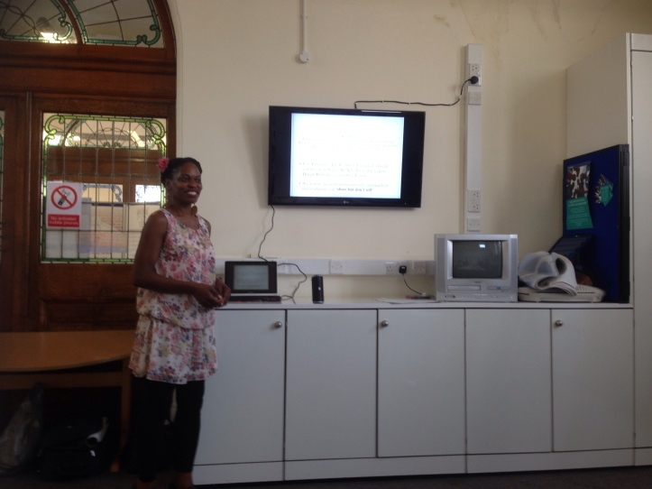 Poetry Workshop delivered for Lewisham Library, 2014. Photo: A Dobell.